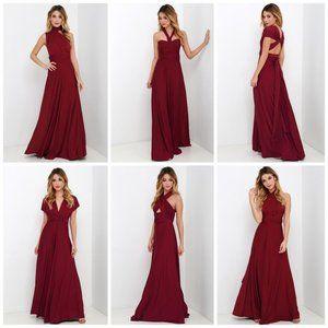 NEW Lulu's Always Stunning Convertible Maxi Dress